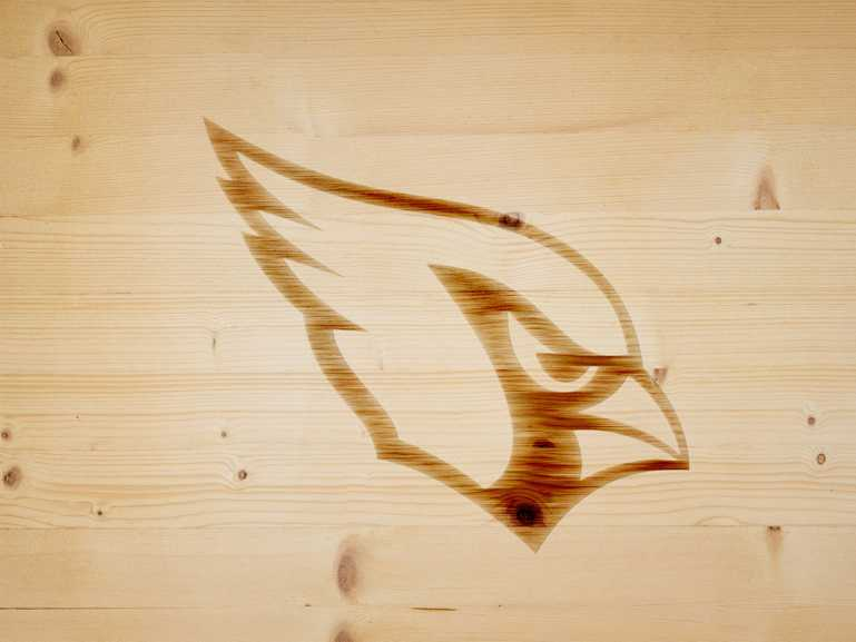 Arizona Cardinals Branding Iron On Wood