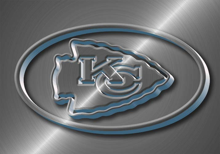 Kansas City Chiefs metal effect