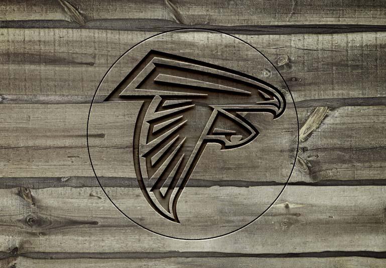 atlanta falcons Carved wood