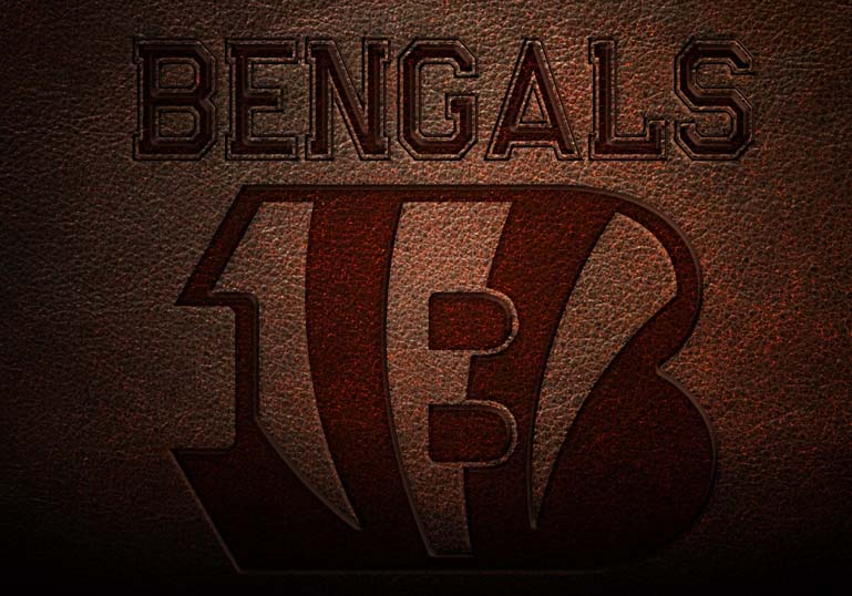 Bengals Leather Text Style Effect