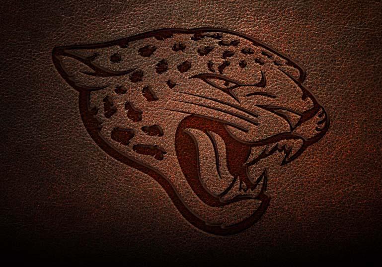 Jacksonville Jaguar Leather Text Style Effect