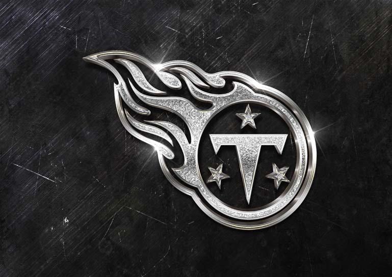 tennessee titans 3d silver sparkle