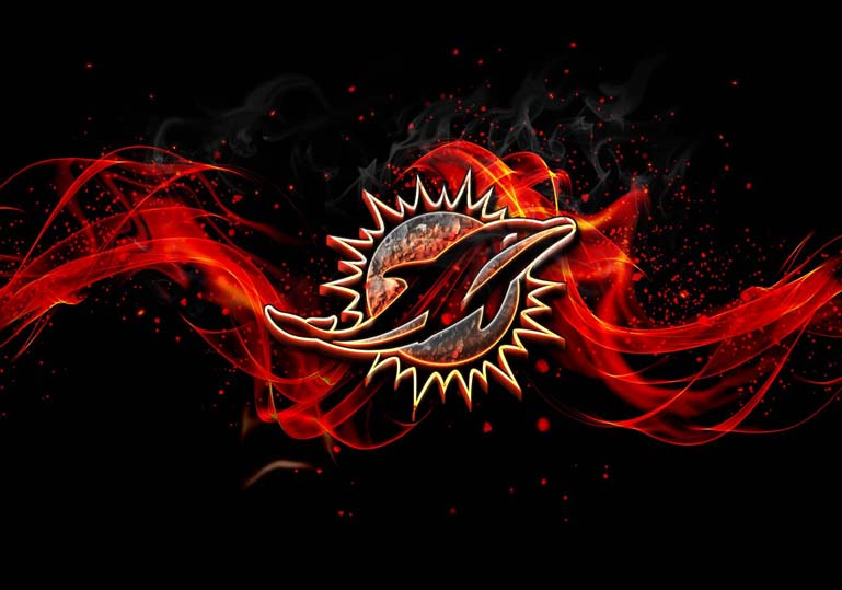 miami dolphins burn fire effect