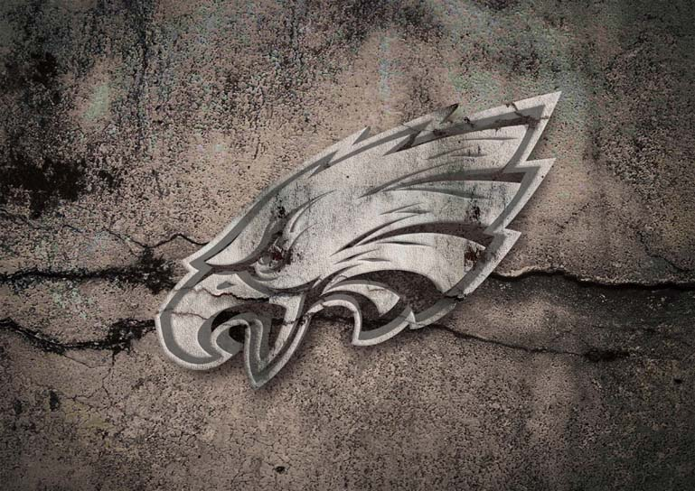 philadelphia eagles 3d stone